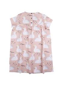 Walkiddy - Jersey dress - princess swans - 1