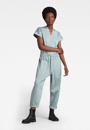 BUTTON TEXT - Jumpsuit - synthetic blue