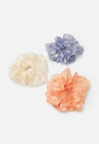 Pieces - PCPAISLEY OVERSIZED SCRUNCHI 3 PACK - Hair Styling Accessory - airy blue/cream/coral - 0