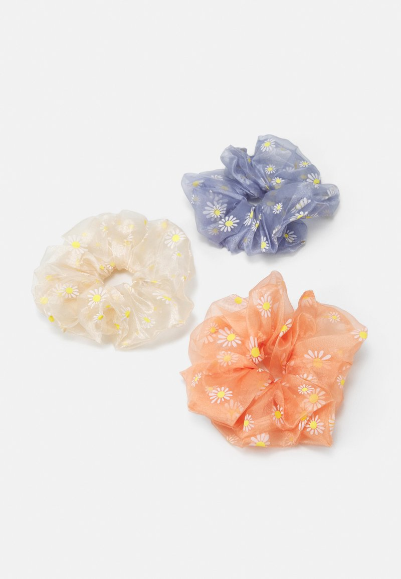 Pieces - PCPAISLEY OVERSIZED SCRUNCHI 3 PACK - Hair Styling Accessory - airy blue/cream/coral