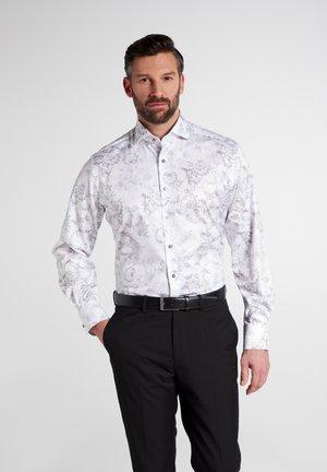 MODERN FIT - Zakelijk overhemd - grau/weiss