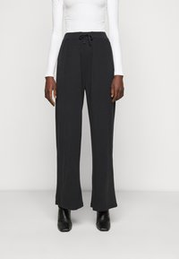 Anna Field Tall - WIDE LEG TROUSERS - Bukse - black - 0