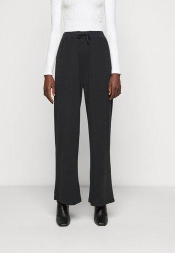 WIDE LEG TROUSERS - Pantaloni - black
