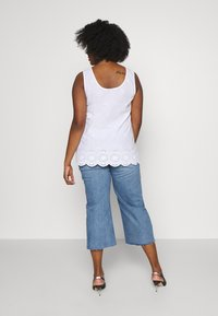 Simply Be - RAW HEM CROP WIDE LEG JEANS - Jeans Skinny Fit - bluewash - 2