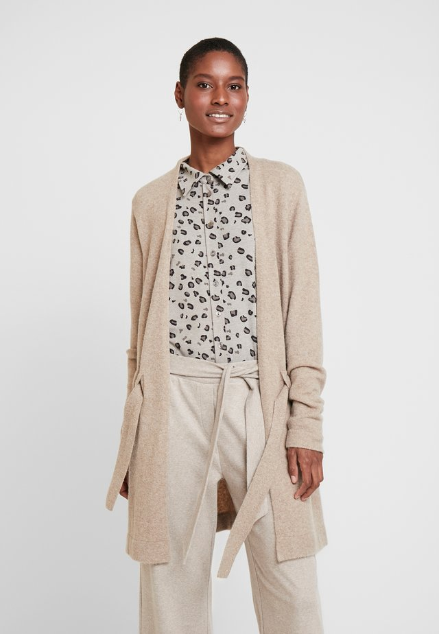 Cardigan - light taupe-melange