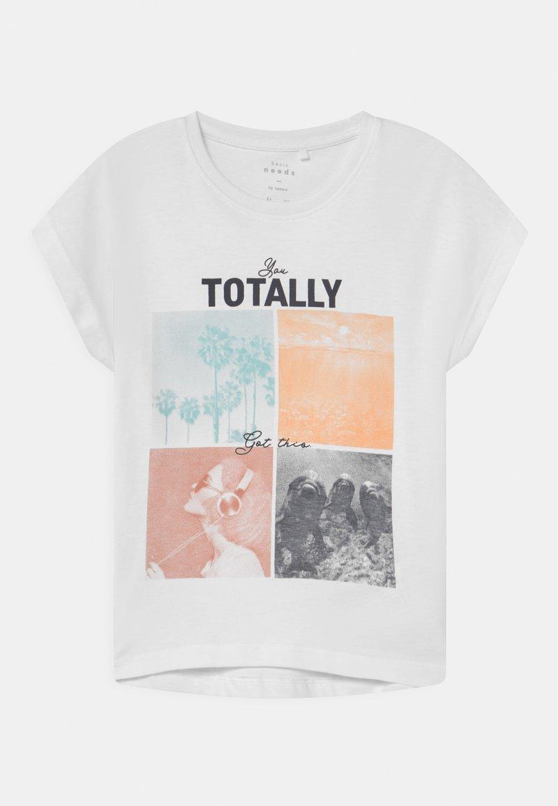 Name it - NKFVIOLET - Print T-shirt - bright white