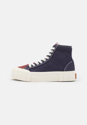 PALM UNISEX - Sneakers hoog - navy/brown/blue