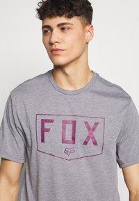 Fox Racing - SHIELD TECH TEE - T-Shirt print - grey - 4