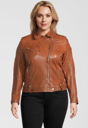 GGFAMOS CF LAMAXV - Leather jacket - cognac