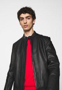 HUGO - LONOS - Leather jacket - black - 3