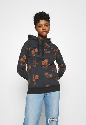 ONLJALENE HOOD - Sweat à capuche - black/nature
