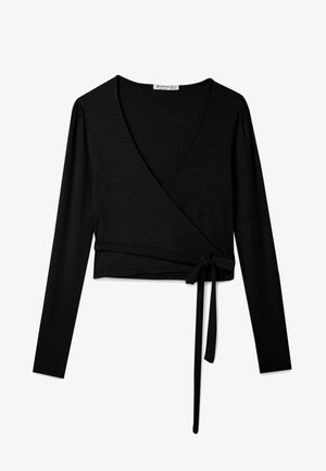IN WICKELOPTIK - Long sleeved top - black