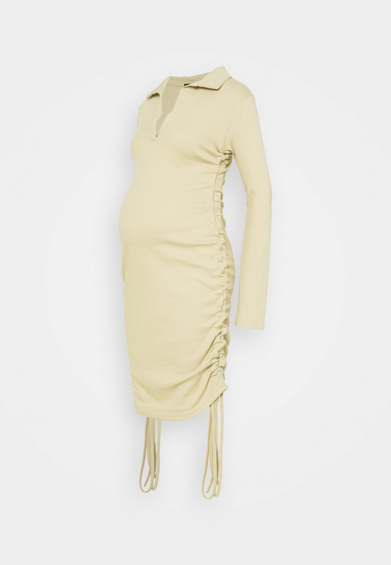 Missguided Maternity - RUCHED SIDE COLLAR DRESS - Jersey dress - camel