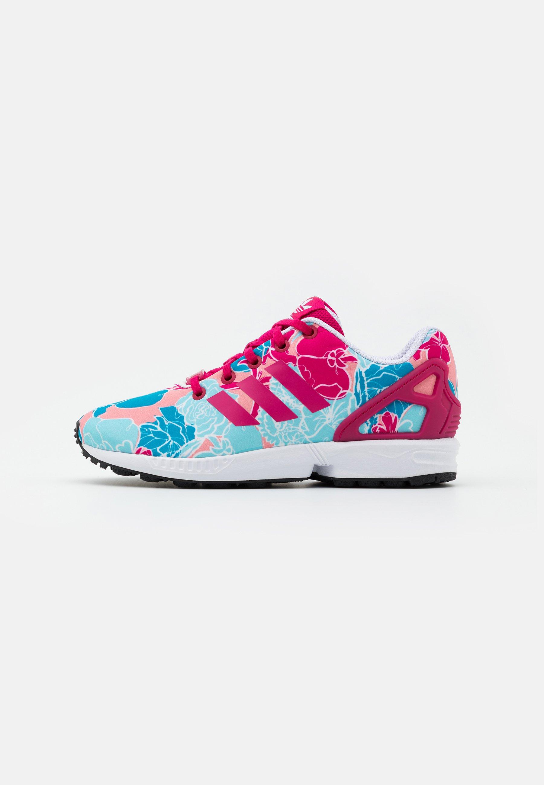 adidas Originals ZX FLUX - Baskets basses - bolt pink/footwear ...