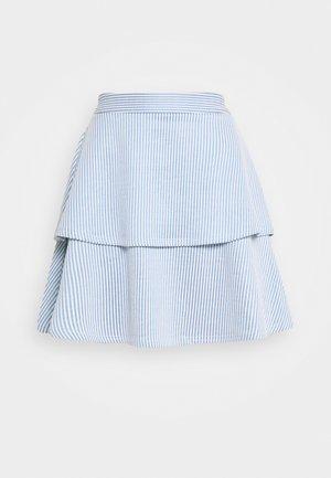 VIMILAC SHORT SKIRT - A-line skirt - blue/cloud dancer