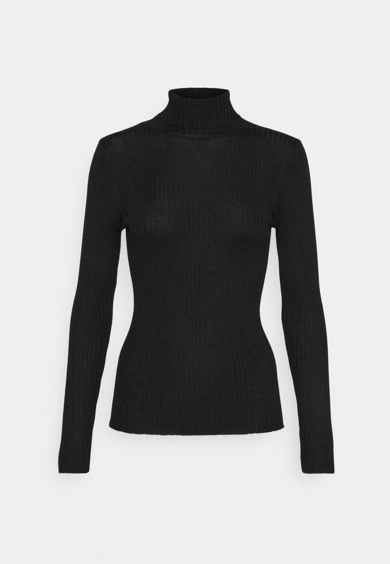 Selected Femme Tall - SLFCOSTINA ROLLNECK - Jumper - black