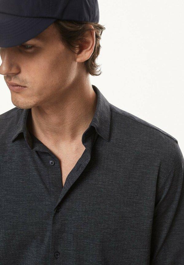 Massimo Dutti SLIM FIT - Koszula - blue-black denim/czarnoniebieski denim Odzież Męska EESM