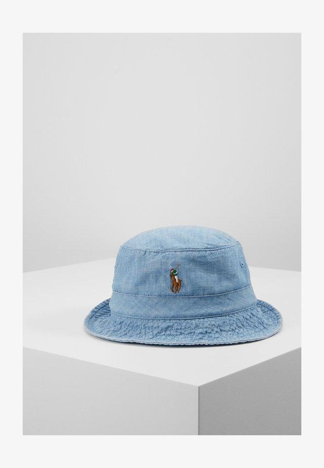 BUCKET HAT - Hoed - blue chambray