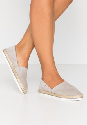 LEATHER - Espadrilky - grey
