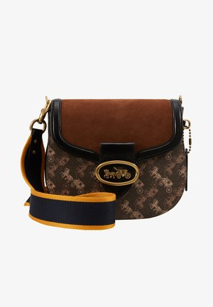 HORSE AND CARRIAGE KAT SADDLE BAG - Across body bag - brown/black