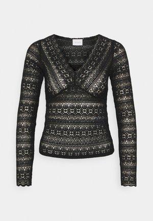 VICHIKKA NECK TOP - Långärmad tröja - black