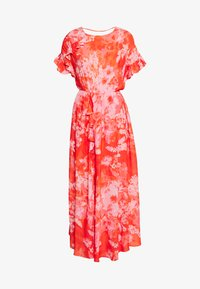 FANTAMAN ABITO GEORGETTE HIBISCUS - Maxi dress - multi rosso/rosa