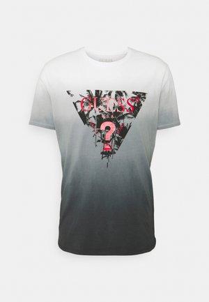 PALM BEACH TEE - T-shirt imprimé - black/white