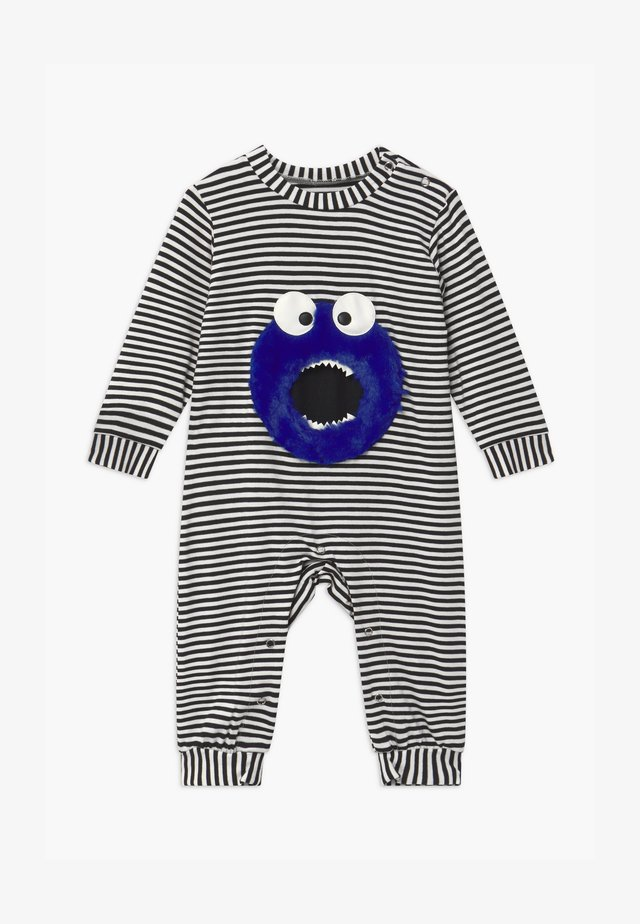 LITTLE MONSTER UNISEX BABY - Pyjamas - black/white