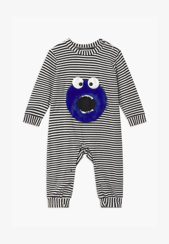 LITTLE MONSTER UNISEX BABY - Pyžamo - black/white