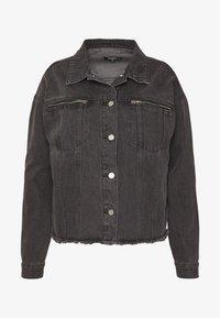 Missguided Plus - OVERSIZED JACKET - Džínová bunda - black - 4