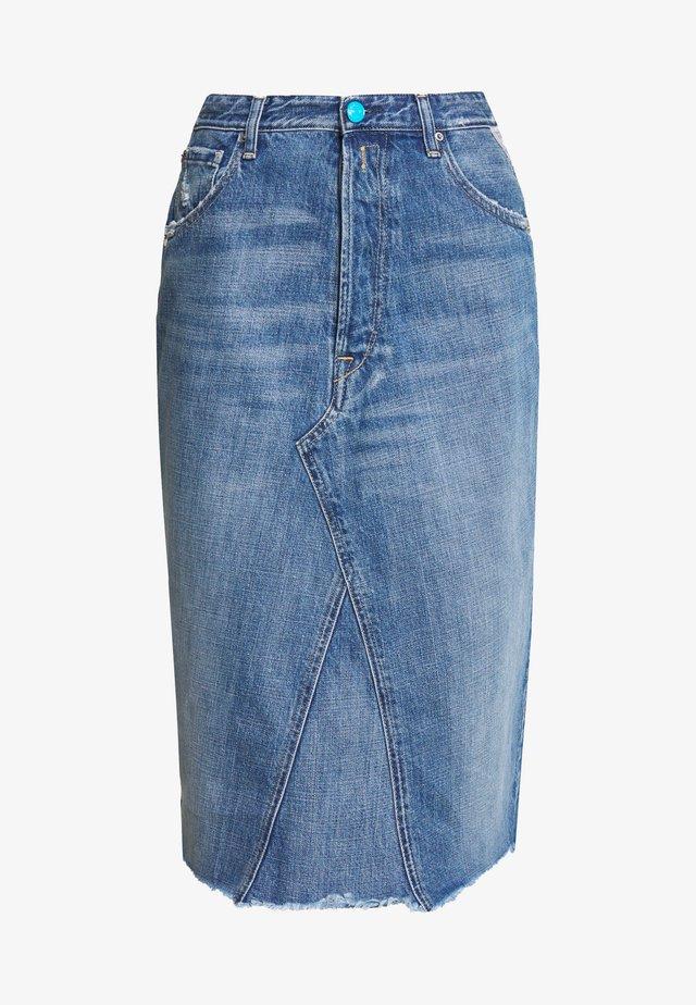 SKIRT - Spódnica ołówkowa  - medium blue