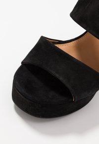 Even&Odd - LEATHER - Højhælede sandaletter / Højhælede sandaler - black - 2