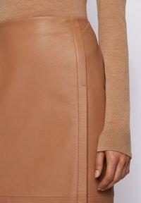 BOSS - SEPASSA - Pencil skirt - light brown - 3