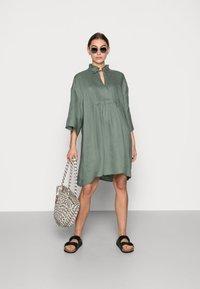 ARKET - Shirt dress - sage green - 1