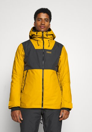 BLOCK JACKET - Snowboard jacket - yellow