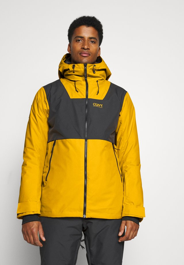 BLOCK JACKET - Snowboardjas - yellow