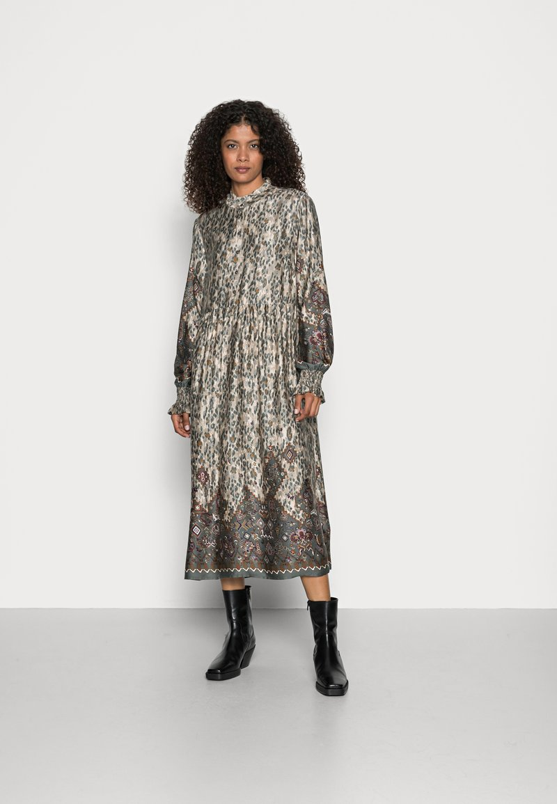 Cream - MARLENE DRESS - Maxi dress - gunmetal