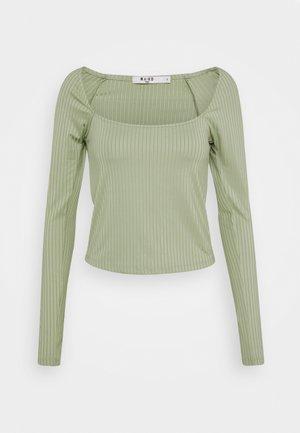 ROUND NECK - Long sleeved top - khaki