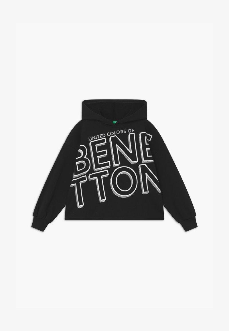 Benetton - BASIC GIRL - Mikina skapucí - black