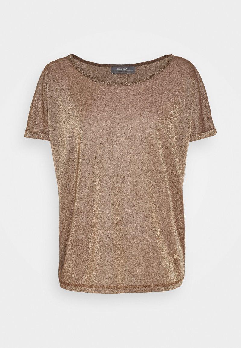 Mos Mosh - KAY TEE - Basic T-shirt - chocolate chip