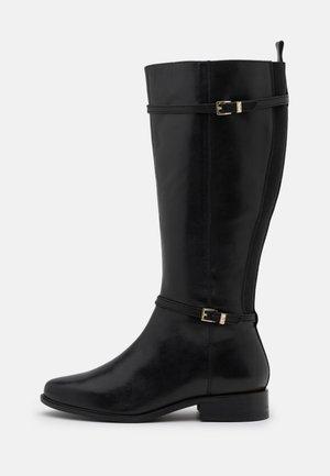 WIDE FIT TOP - Vysoká obuv - black