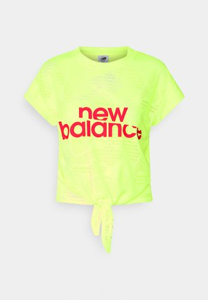 ACHIEVER COLLIDE TEE - Sports shirt - bleached lime glo