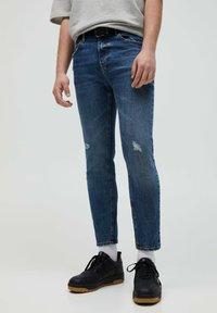 PULL&BEAR - Slim fit jeans - mottled blue - 0