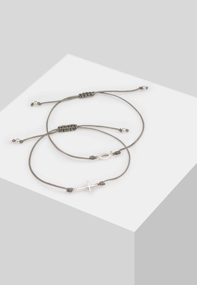 2 SET  - Bracelet - silver-coloured