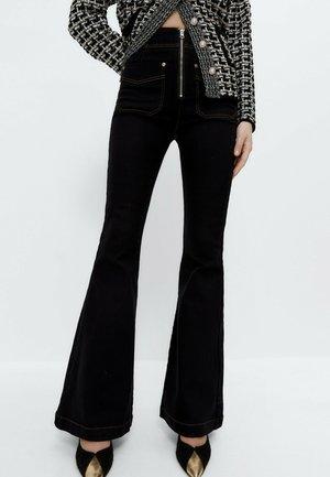 Bootcut jeans - black
