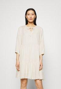 Selected Femme - SLFNAIDA SHORT DRESS - Day dress - sandshell - 0