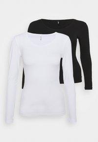 ONLLIVELOVE LIFE O NECK 2 PACK - Camiseta de manga larga - black/white