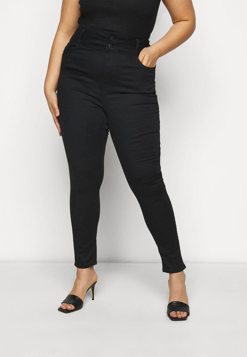 New Look Curves - LIFT SHAPE  - Jeans Skinny Fit - black