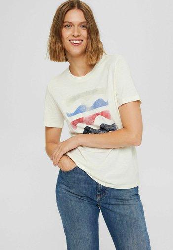 REGULAR FIT - Print T-shirt - off white
