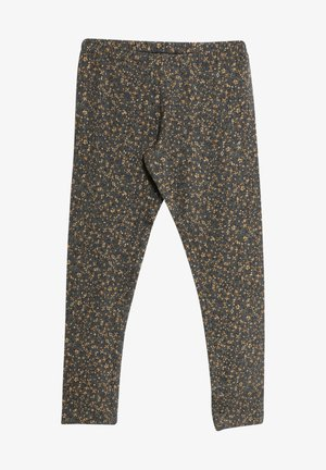 Leggings - Trousers - greyblue flowers